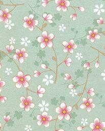 Tapet nr 91430 Namn: PiP Cherry Blossom Green Tillverkare: Pip Studio