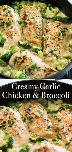 Creamy Garlic Chicken with Broccoli is a household favorite for everyone in the family. This is the perfect one-pot chicken recipe with a homemade creamy garlic sauce when you're in need of somet Garlic Chicken Pasta, Chicken Broccoli, Chicken Seasoning, Chicken Soup, Creamy Chicken Bake, Garlic Noodles, Broccoli Pasta, Garlic Chicken Recipes, Skillet Chicken