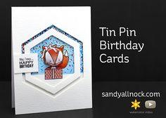 Sandy Allnock Tin Pin Birthday Cards
