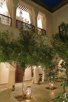 Courtyard at Riad Dar Karma, Morocco #morocco #riad - Maroc Désert Expérience tours http://www.marocdesertexperience.com