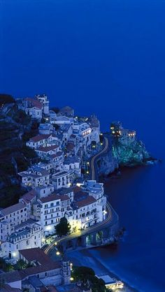 Amalfi Coast by night ~ Italy