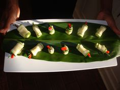 Zucchini Rolls with Hawaiian Goat Cheese & Roasted Red Pepper