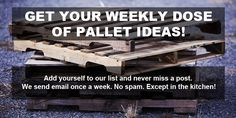 All our tutorials and free plans of wood pallet projects, the printable ones and detailed posts that will show you how to realize your idea by yourself.