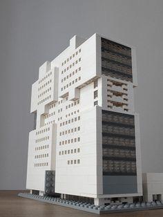 Godfrey Hotel, Chicago Architektur mit LEGO   Architecture with LEGO bricks.