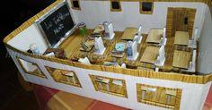 Maquete da sala de aula (trabalho escolar), feita com materiais reciclados e não só. Artesanato e Reciclagem. Com Passo a Passo.