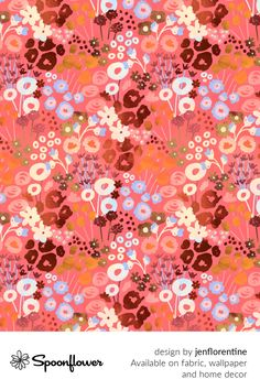 Customize your own home decor, #wallpaper and #fabric at Spoonflower. Shop your favorite indie designs on #fabric, #wallpaper and home decor products on Spoonflower, all printed with #eco-friendly inks and handmade in the United States. #patterndesign #textildesign #pattern #digitalprinting #homedecor #retro #floral #flowers #modern #abstract Retro Flowers, Retro Floral, Floral Flowers, Graphite Drawings, Art Things, Mixed Media Painting, Modern Retro, Fabric Wallpaper, Floral Designs
