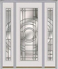 Door with two sidelites. Milliken Millwork. Entropy - 686EN  sc 1 st  Pinterest & Entry door. Door with two sidelites. Milliken Millwork. Oak Park ...