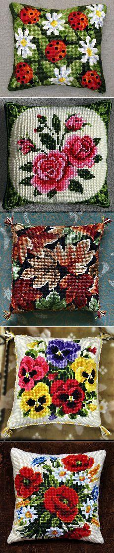 Cross Stitch Pillow, Cross Stitch Charts, Cross Stitch Designs, Cross Stitch Patterns, Pillow Embroidery, Embroidery Patterns Free, Hand Embroidery, Knitting Patterns, Cross Stitching