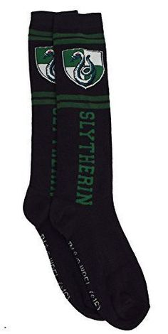 Were you sorted into Slytherin? If so, than these socks are for you. - Great For Halloween or any other time you feel like showing your Slytherin pride - Offically Licensed - Fits Shoe Size 4-10/Size