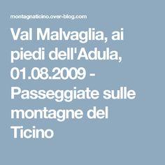Val Malvaglia, ai piedi dell'Adula, 01.08.2009 - Passeggiate sulle montagne del Ticino
