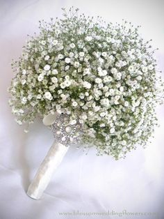 Gypsophila bridesmaid bouquet