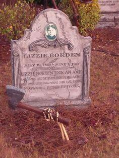 Halloween Lizzie Borden tombstone