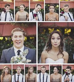 Wedding Party Photo Idea - love :), one serious & one funny