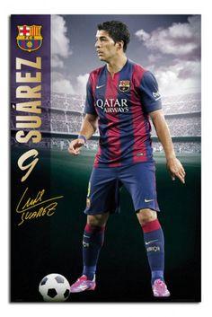 FC Barcelona Louis Suarez 2014 - 2015 Poster