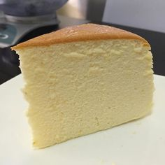 Slice of Japanese cheese cake