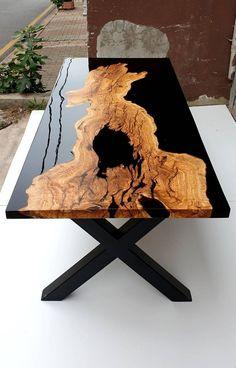 Diy Resin Table, Epoxy Wood Table, Epoxy Resin Table, Diy Resin Art, Diy Resin Crafts, Wood Crafts, Epoxy Table Top, Wood Table Design, Resin Furniture