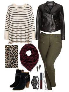 I LOVE these plus sizekhaki skinnies! Plus Size Outfit Idea - Plus Size Fashion - Alexa Webb - alexawebb.com #alexawebb