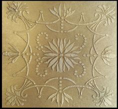 Raised Plaster Anaise Tile Stencil Furniture by ElegantStencils