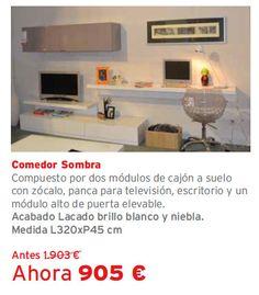 Liquidación de exposiciones de muebles Kibuc. Tienda Galerías Torras, Cerdanyola del Vallés. Comedor Sombra