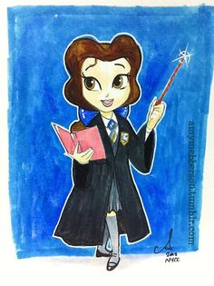 Belle as Ravenclaw student by Amy Mebberson