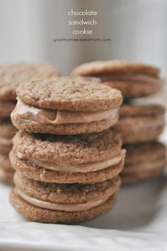 These chocolate sandwich cookies are light and chocolately and so fun to eat.