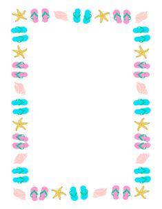 dc2387f3b739e Seashells and flip flops large graphic Borders Free