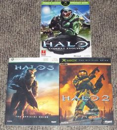 3 Official Strategy Guides HALO (Prima) HALO 2 & HALO 3 (Bungie) XBOX LIVE GAMER
