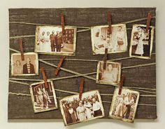 D.I.Y. Burlap Memory Board
