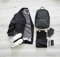 Grid minimalistisch outfit style grid for men King Fashion, Mens Fashion Blog, Look Fashion, Fall Outfits, Casual Outfits, Men Casual, Casual Chic, Mode Man, Outfit Grid