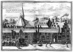 DECKER, Coenraet The Convent of St Agatha and Prinsenhof in Delft 1667-80 Engraving, 180 x 271 mm Private collection