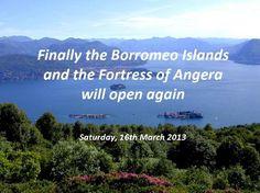 Borromeo Islands reopening 2013