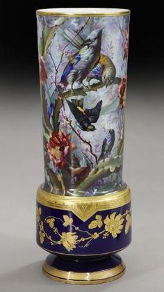 Impressive large French porcelain vase