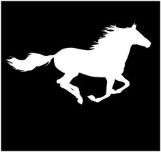 Vehicle Stickers, Horse vinyl sticker- Horse Running , Car sticker, decals, ipad stickers, vehicle decals, wall decals