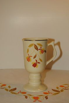 Jewel Tea Autumn Leaf Irish Coffee Mug by Hall China