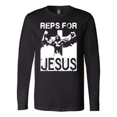 Christian gifts - christian long sleeve t-shirts with quote-Reps for jesus long sleeve t-shirt Canva