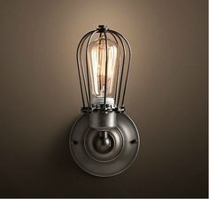 Vintage style Industrial Cage Edison
