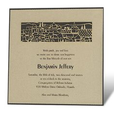 Ornate Old Jerusalem – Bar Mitzvah Invitation
