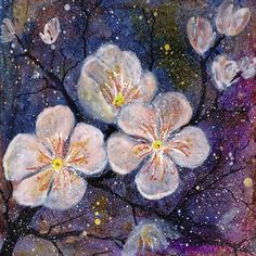 Christine Nöhmeier: Blütenzweig - Bild auf Alu-Verbundplatte