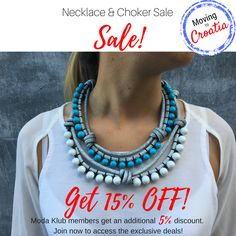 Moving to Croatia Sale!  This weeks sale is on our Necklace & Choker Collection! Get 15% OFF (no code required) + get an additional 5% OFF if you are a Moda Klub member (discount code required). Become a member through our website {link in bio} to unlock the additional savings!  *Promotion available while stocks last! Be Quick! * Sale ends on Saturday 21 October 11:59PM  | Independent fashion from Croatia | Free Shipping in Australia  ❤️ Repin to your own inspiration board
