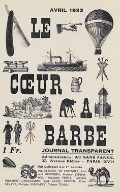 """Le Coeur à barbe"" №1 — edited by Tristan Tzara — 1922 – Paris"