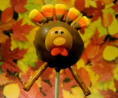 Thanksgiving turkey cake pops would be a cute addition to the table!