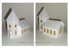 Free DIY paper church with free template