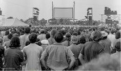 The Allman Brothers Band + crowd at the Second Atlanta International Pop Festival aka Byron Pop Festival. 1970