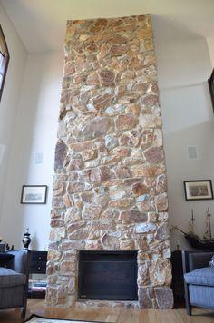 Another beautiful stone fireplace