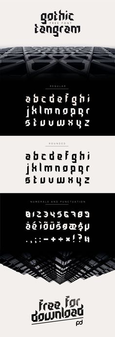 Gothic Tangram Free Font