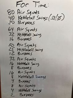 Leg Day ...modified a CF benchmark workout aimed at legs and core. Try to complete this in under 20 minutes. #hit, home workouts.