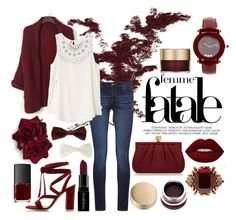 """""""Femme Fatale"""" by alx-tchnll ❤ liked on Polyvore featuring Forever 21, DL1961 Premium Denim, Gianvito Rossi, Wilbur & Gussie, Lime Crime, RVCA, Smashbox, NARS Cosmetics, Alexander McQueen and Chopard"""