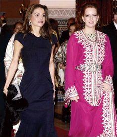 Queen Rania and Queen Lalla Salma