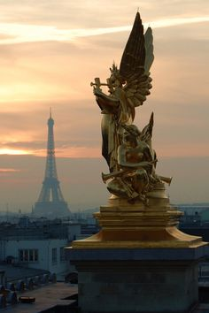 The Eiffel Tower from the roof of the Paris Opera House