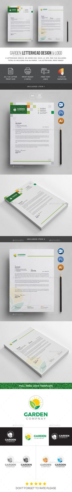 Mod #Corporate #Letterhead #Template - #Company #Stationery #Print - corporate letterhead template